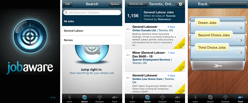 Job Aware app screenshots