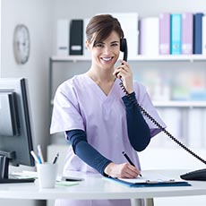 Medical receptionist job icon