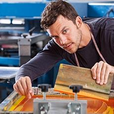 Printing press operator job icon