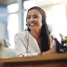 Receptionist job icon