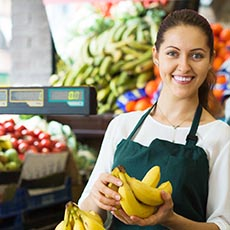 Grocery clerk job icon