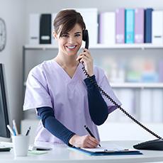 Medical Secretary Receptionist job icon