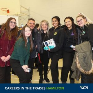 A group of students explores the trades in Hamilton.