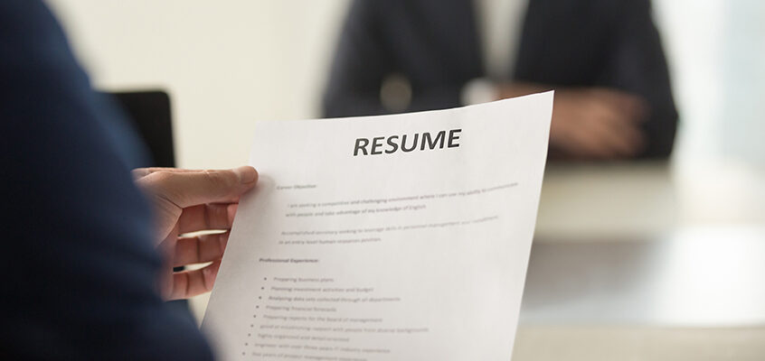 Success Story: Resume support to match your skills